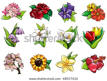 Cute Flowers Icons Download Free Vector Art Stock Graphics Images