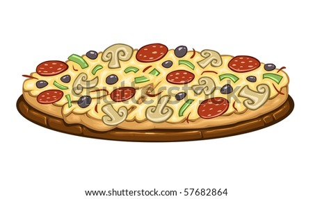Cartoon Food - Pizza