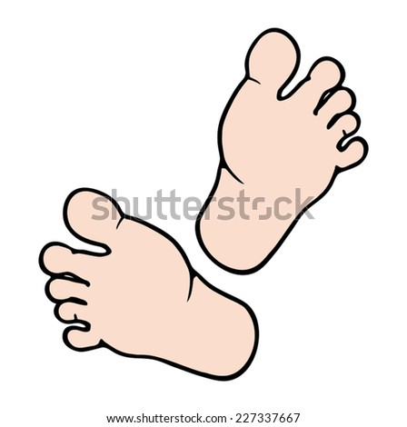 cartoon foot