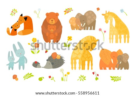 cartoon forest pattern with