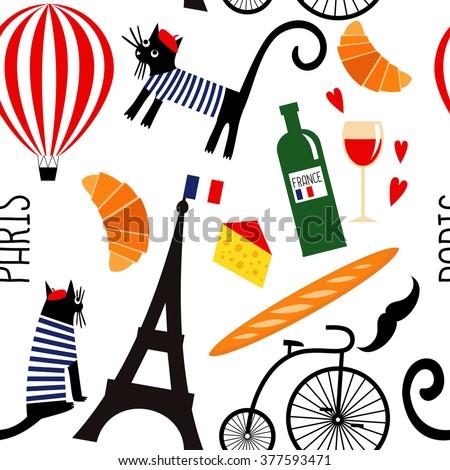 cartoon french culture symbols
