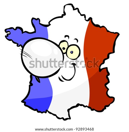 Cartoon French Map- joy.