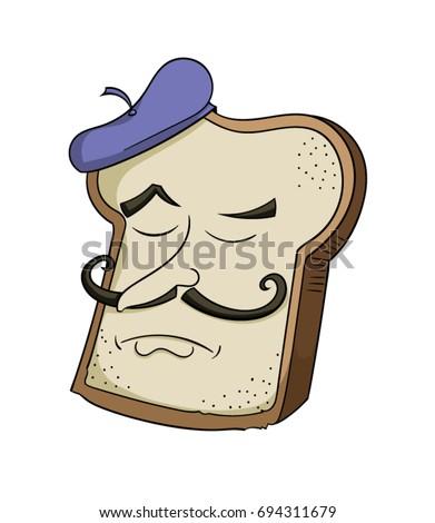 cartoon french toast character