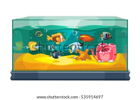 cartoon freshwater fishes in