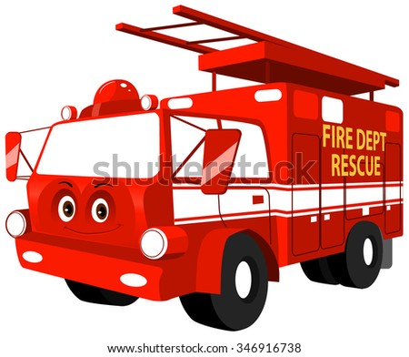 vector fire truck - download free vector art, stock graphics & images