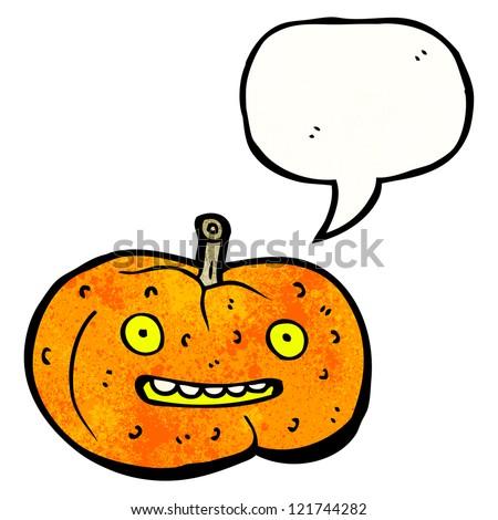 cartoon friendly halloween pumpkin