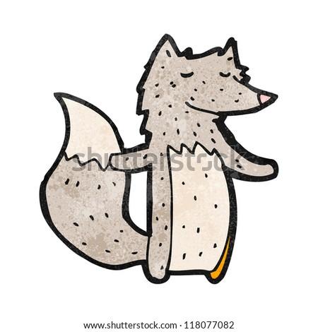 cartoon friendly wolf