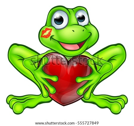 cartoon frog fairy tale mascot