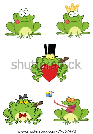 Cartoon Frogs-Vector Collection