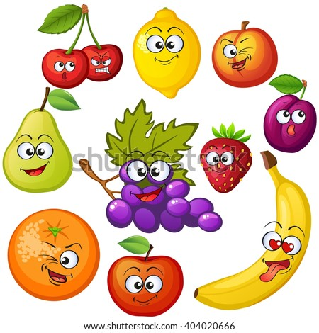 cartoon fruit characters fruit