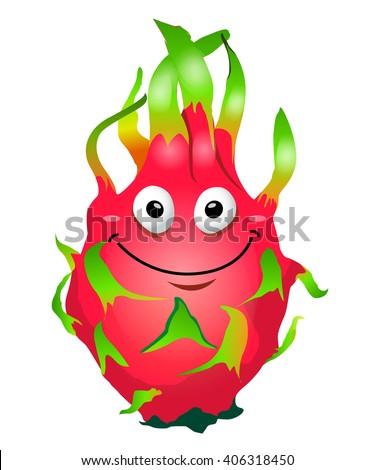 cartoon fun dragon fruit