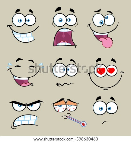 cartoon funny face with
