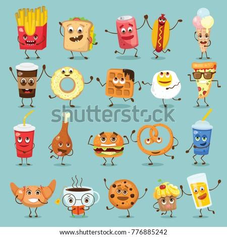 cartoon funny food characters