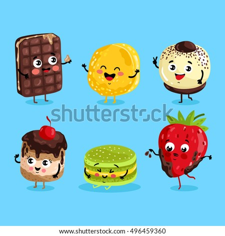 cartoon funny foods characters