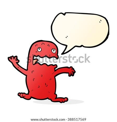 cartoon funny frog with speech