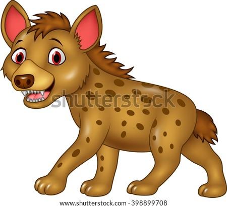 Cartoon funny hyena