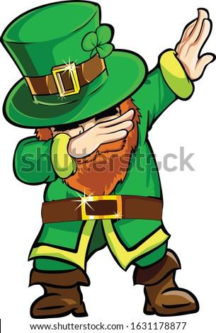 cartoon funny leprechaun dab