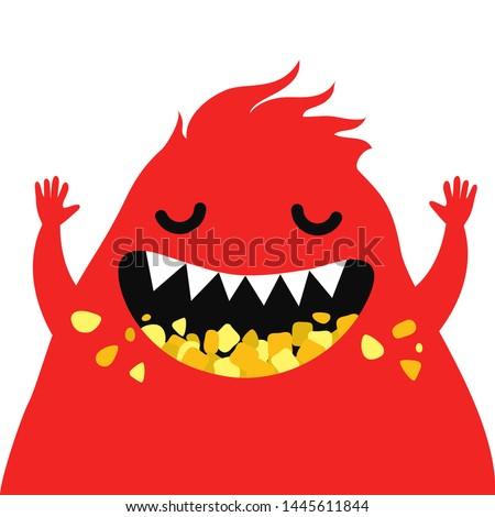 cartoon funny monster vector