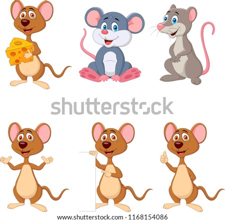 Cartoon funny mouse collection set #1168154086