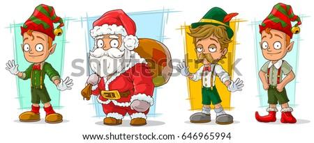 cartoon funny santa claus with