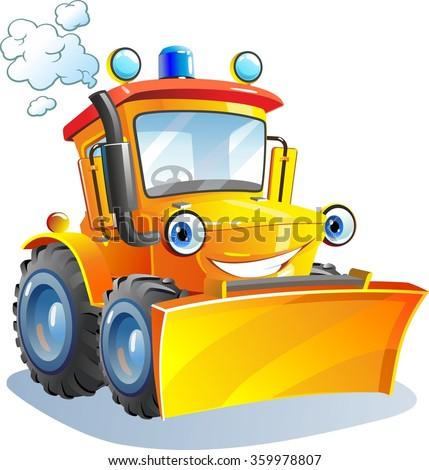 cartoon funny tractor