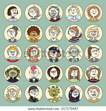cartoon funny user avatars in