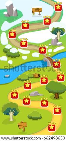 cartoon game level map template