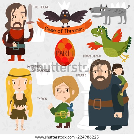 cartoon game of thrones in