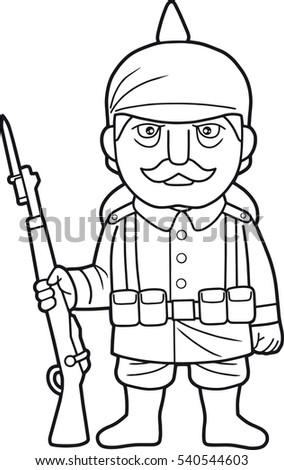 Cartoon German Soldier During World War One Ez Canvas