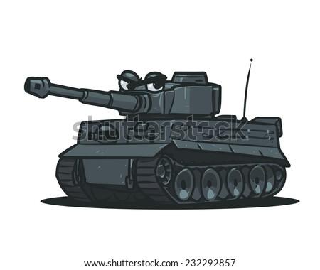 cartoon german tank ww2