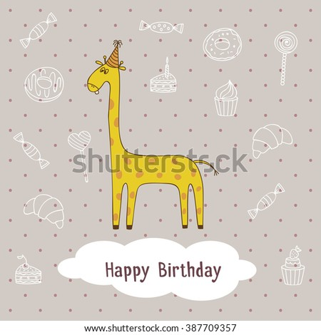 cartoon giraffe design of