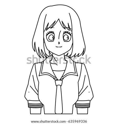 cartoon girl anime character