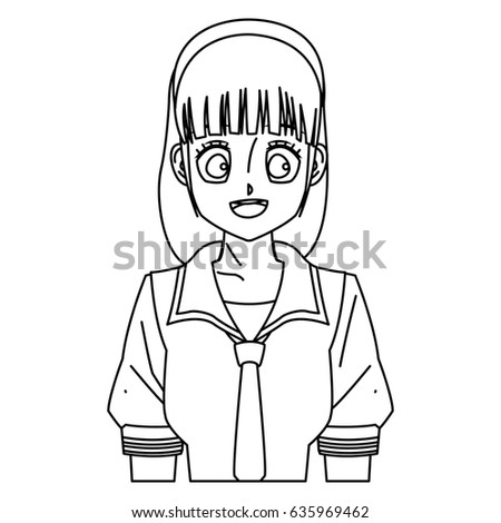cartoon girl anime character