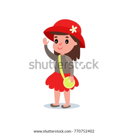 cartoon girl character in