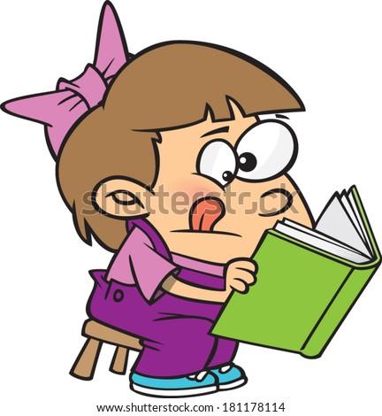 cartoon person reading a - photo #22