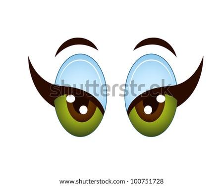 Cartoon Girl Eyes