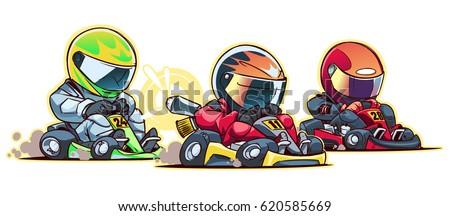 Cartoon Go Kart Race Zdjęcia stock ©