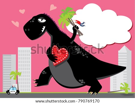 cartoon godzilla valentines