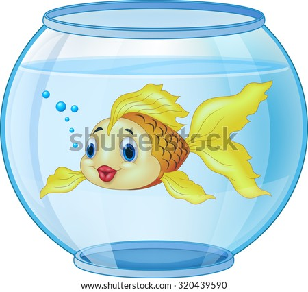 cartoon golden fish in the