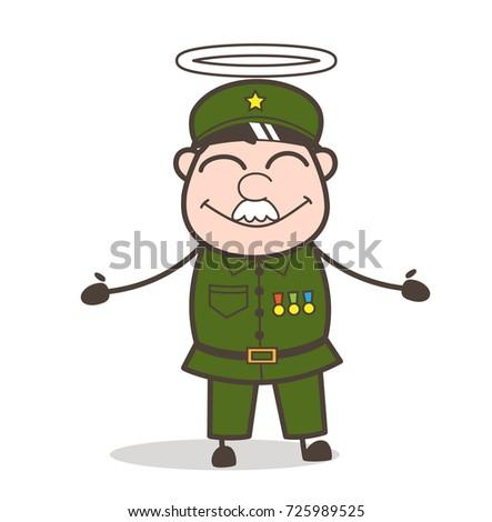 cartoon good sergeant with halo