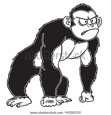 Gorilla Face Cartoon Baby Gorilla Cartoon Face