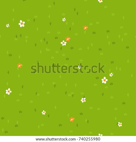 stock-vector-cartoon-grass-with-small-flowers-daisy-and-marigold-grass-field-background-texture