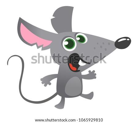 cartoon gray mouse talking