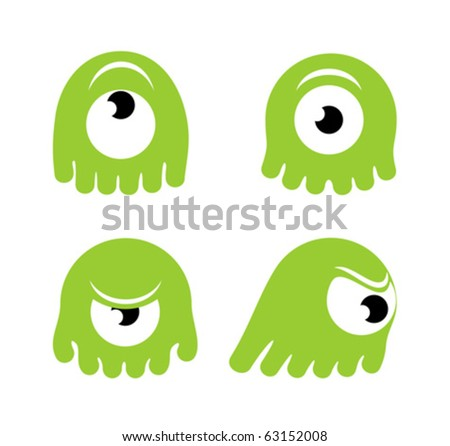 cartoon green monster in