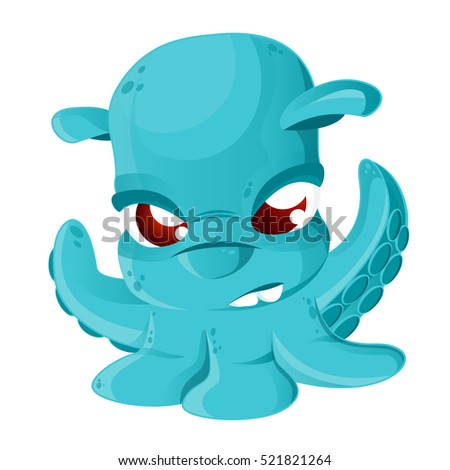 cartoon grimpoteuthis isolated