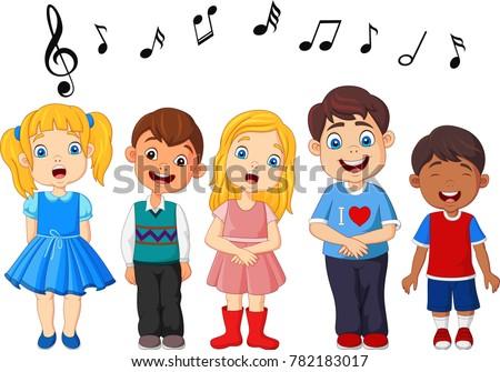cartoon group of children