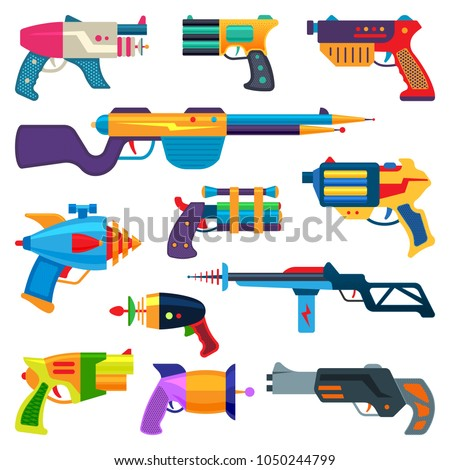 cartoon gun vector toy blaster