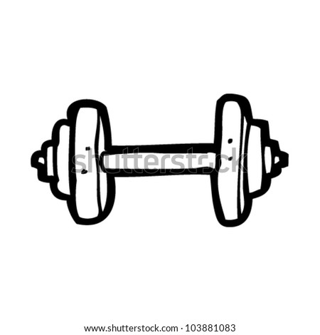 Stock Vector Cartoon Gym Weights on value drawing
