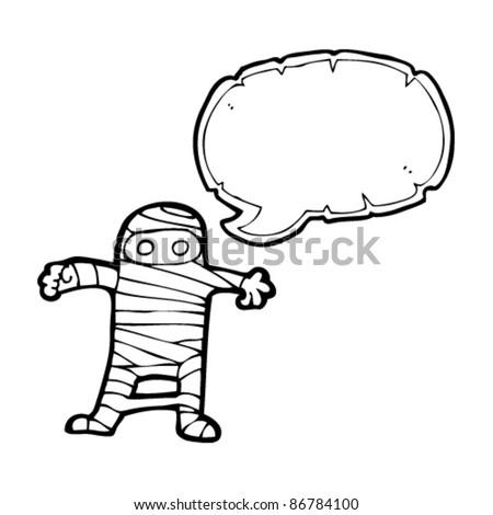cartoon halloween mummy