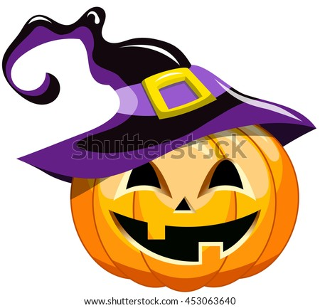 cartoon halloween pumpkin